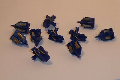 Pack Of 10 Unused Authentic Scalextric - W8450 Blue Short Stem Pick-Ups . • 9.95£
