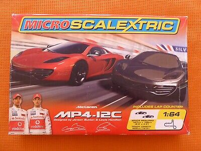 Micro Scalextric McLaren MP4-12C Set Track & Controls Only • 15£