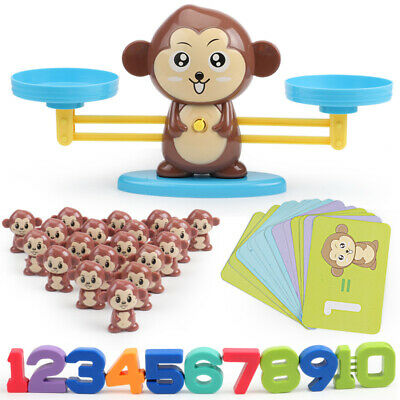 Monkey Balance Cool Math Game Fun Learning, Educational Toy Gift For Kid UK NEW • 10.99£