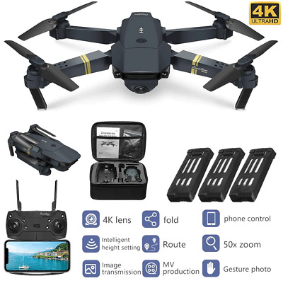 Drone X Pro 4K Camera WIFI FPV 3 Battery Foldable Selfie RC Quadcopter Xmas Gift • 36.58£