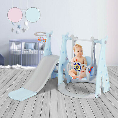 Toddler Climber Slide Play Swing Set Kids Indoor/Outdoor Playground Boy Girl Toy • 62.99£