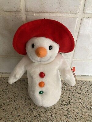 Ty Beanie Baby Chillin The Christmas Snowman - Mint -retired • 1.99£