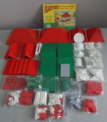 BAYKO, COMPLETE No 4 SET (NO BOX), WITH EXTRA  ROOFS & OTHER EXTRAS • 75£
