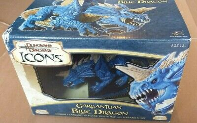 D&D Icons Gargantuan Blue Dragon Dungeon's And Dragons Large Miniature D&D Icon • 22£