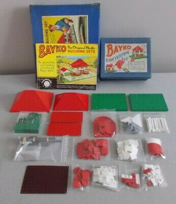BAYKO, COMPLETE No 1 & 1X SETS, = No 2 SET (WITH AN ARCH & OTHER EXTRAS) • 25£