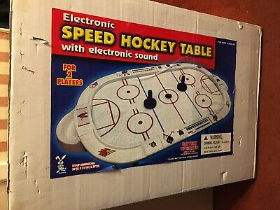 ELECTRONIC SPEED HOCKEY TABLE WITH ELECTRONIC SOUND - SIZE 36  X 21  X 30   • 30£