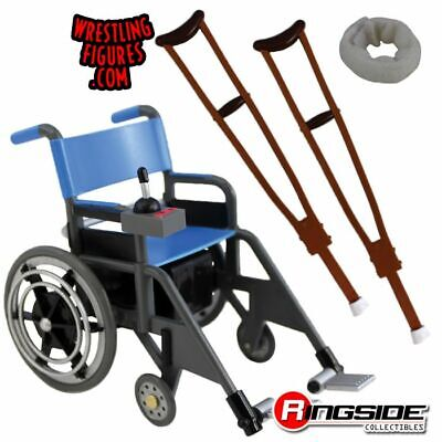 🆕 WWE WHEELCHAIR PLAYSET ACCESSORY For WRESTLING FIGURES - RINGSIDE EXC - NIB • 22.49£