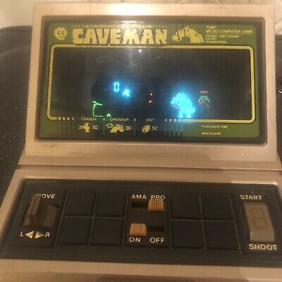 Vintage Tomy Grandstand Caveman Game - Working Condition • 30£