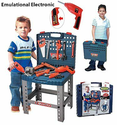 Boys Kids Workbench Toy Children Creative Tool Bench Play Set Work Shop Tool Kit • 19.99£