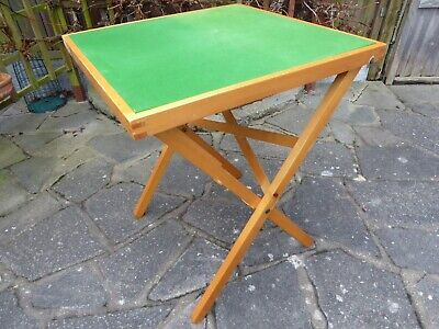 Vintage Square Folding Card/Games Table With Cover • 20£