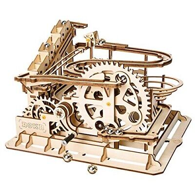 Robotime Marble Roller Coaster Clockwork Mechanical 3D Puzzle Game Gift UK Stock • 34.99£