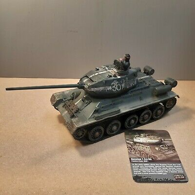 Forces Of Valour 1/32 Russian T34/85 Tank Eastern Front Excellent Condition • 50£