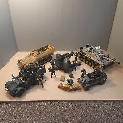 Forces Of Valour 1/32 WWII German Army 88mm, Homanag,Stug Tank And Transport • 120£