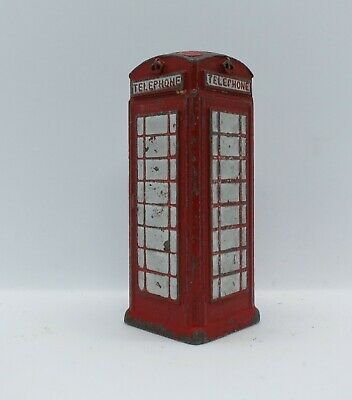 VINTAGE DINKY MODEL No.750 GPO  RED TELEPHONE BOX • 1.99£