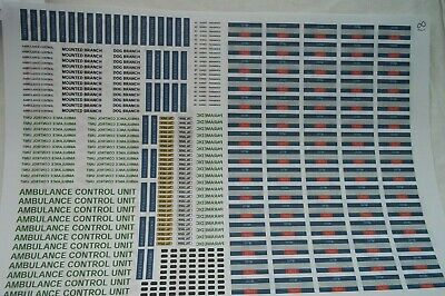 No 81   Various Police & Ambulance Clear Waterslide Decals For Code 3  • 3.50£