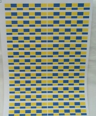No 2   Police Yellow/Blue Battenburg Waterslide Clear Decals A4 Sheet For Code 3 • 3.50£
