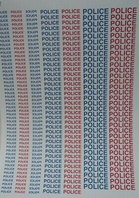 No 37  Police In Red And Blue Clear Waterslide Decals For Code 3 • 3.50£