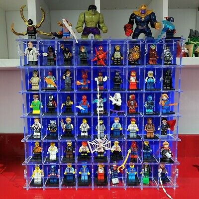 54 Section Compartment Lego Mini Figure Character Display Frame Rack Cabinet • 39.99£