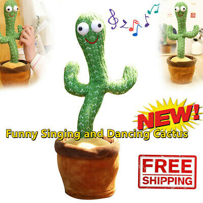 Electronic Dancing Cactus Plush Toy Shake With Song Cute Dance Succulent Lovers • 12.99£