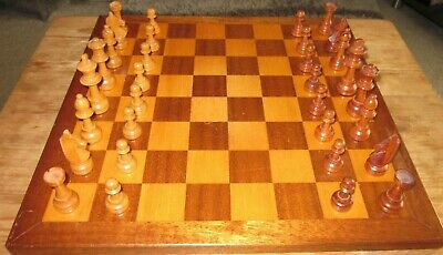 Vintage  Wooden Chess Pieces • 22.80£