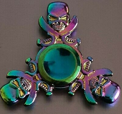 Pirate Skull/Knives Multicolour Metal Fidget Spinner  • 3.99£