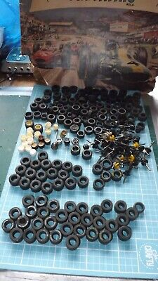 SCALEXTRIC CAR TYRES WHEELS & AXLES - Some Good - Some For Spares / Scenery! • 32£