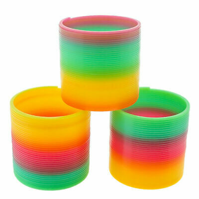 Large Rainbow Spring Coil Slinky Fun Kids Toy Magic Stretchy Bouncing UK • 2.96£