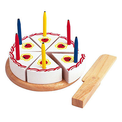 Estia 600254 Birthday Cake With Candles + Knife For Cutting Wood New! # • 17.82£