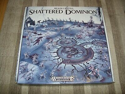 WARHAMMER AoS AGE Of SIGMAR - REALM OF BATTLE SHATTERED DOMINION Game Board Set  • 165£