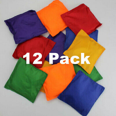 12 X Bean Bags Colourful PE Sports Day Throwing Catching Juggling Games Beanbags • 8.99£