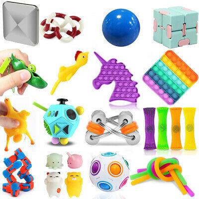 Fidget Sensory Toys Pack Antistress Relief Autism Anxiety Bubble For Kids Adults • 9.28£