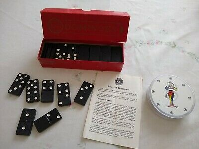 Vintage Dominoes By K&C Ltd London Full Set With Box Plus Pack Of Circular Cards • 2£