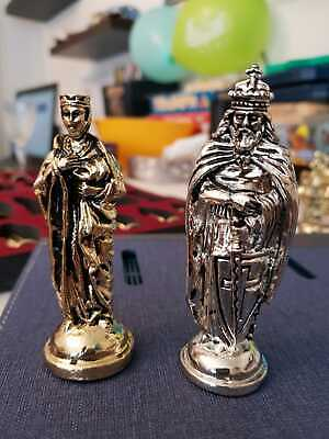 Chess Pieces, Cast Metal. Medieval Theme. • 18£