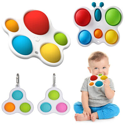 Baby Silicone Flipping Board Simple Dimple Sensory Fidget Toy For Kids Adults • 5.69£