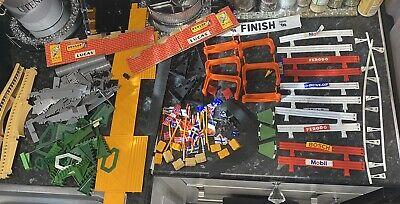 Scalextric Spares Barriers Flags Bridge Supports Bridges Etc Lot Bundle • 10£