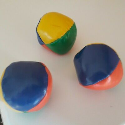 3 X Juggling Balls Multicolor Leather NEW • 6.69£