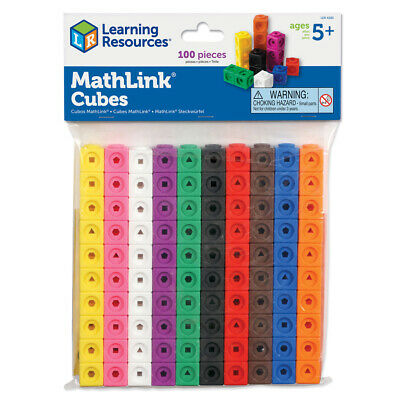 Learning Resources MathLink Maths Cubes, Set Of 100 NEW • 11.50£