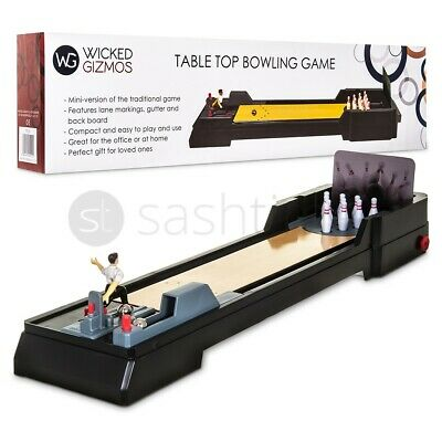 Tabletop Bowling Game For Kids Adults Family Fun Birthday Xmas Party Gift Desk • 16.95£