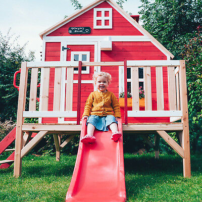 Crooked Penthouse Wooden Playhouse Children's Garden Play Outdoor Wendy House • 649£