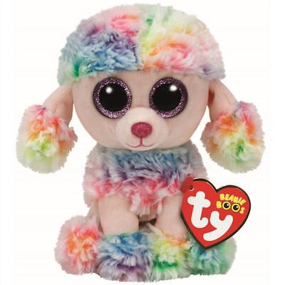Ty Beanie Boos 37223 Rainbow The Pastel Poodle Dog Boo Regular • 7.95£