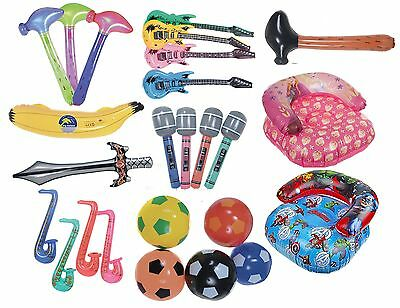 Inflatable Childrens Blow Up Toy Kids Swimming Play Ball Hammer Chair Guitar • 1.99£
