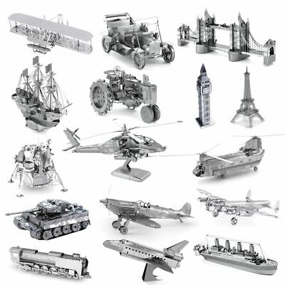 Metal Earth 3D Models Laser Cut DIY Steel Miniatures 15 Designs NEW • 9.95£