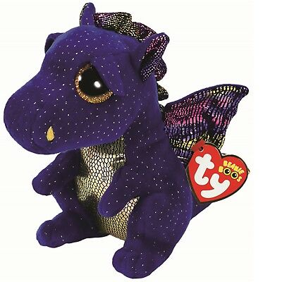 Ty Beanie Boos 36879 Saffire The Blue Dragon Boo Regular • 7.50£