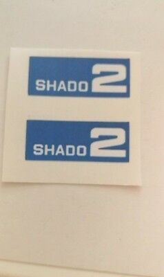 Dinky 353 Shado 2  Mobile Paper Stickers Set Only Blue • 1.10£