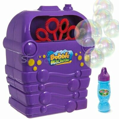 New Kids Childrens Bubble Machine Gun Blower Solution Birthday Party Bubbles Toy • 7.95£