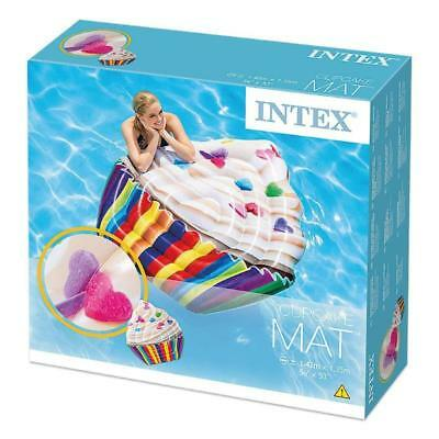 Intex Cupcake Mat Inflatable 56  X 53  Giant Float Pool Lounger Lilo • 9.99£