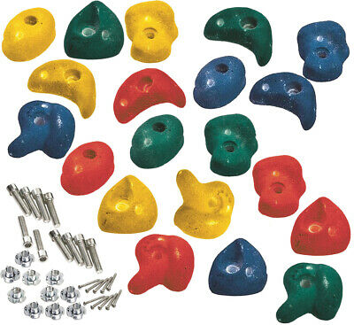 Premium Climbing Holds High Grip Polyresin Stones With Stainless Steel Fixings • 13.95£