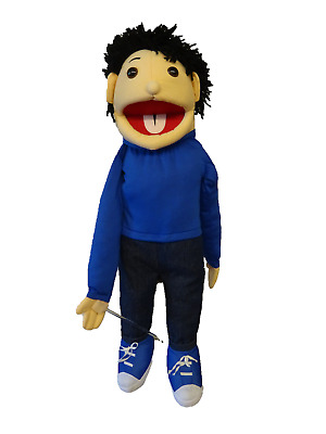Boy Puppet Norton 26  Ventriloquist,Educational.Moving Mouth And Arm Rod • 36£