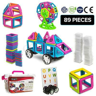 89pc Deluxe Magnetic Building Blocks Set Creative Construction 3d Tiles Diy Toy  • 14.95£