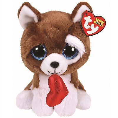 Ty Beanie Boos 36662 Smootches The Brown Dog Valentine Boo Regular • 7.50£